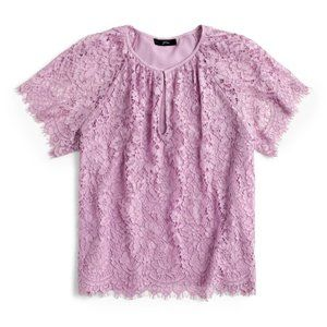 NEW J.Crew Short Sleeve Lace Top Size XS